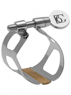 BG Alto Sax Ligature and Cap L12 Leather Style